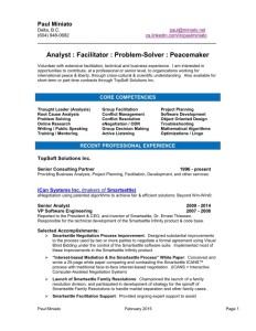Download Resume of Paul Miniato (PDF)