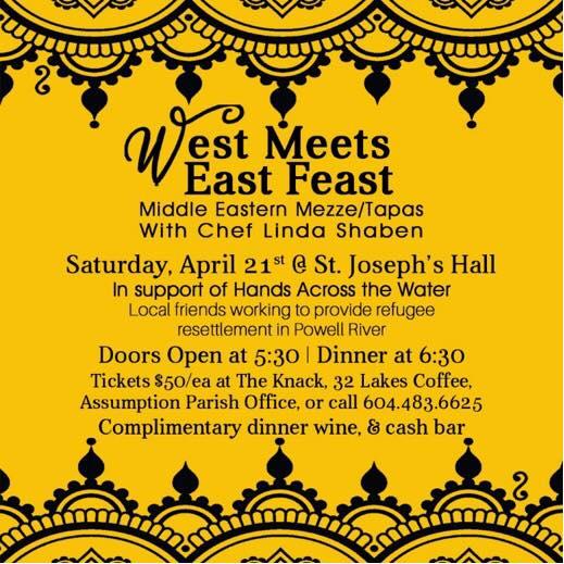 Middle Eastern Mezze/Tapas With Chef Linda Shaben Saturday, April 21st